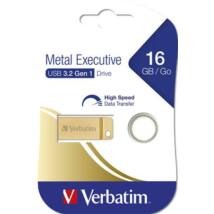 Pendrive, 16GB, USB 3.0, VERBATIM Executive Metal arany (UV16GEM32)