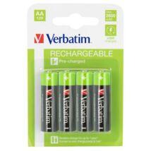Tölthető elem, AA ceruza, 4x2500 mAh, VERBATIM (VAA4)
