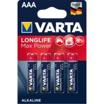 Elem, AAA mikro, 4 db, VARTA Longlife Max Power (VEMTAAA4)