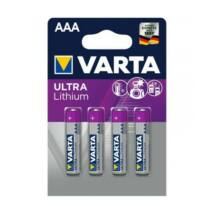 Elem, AAA mikro, 4 db, lítium, VARTA Ultra Lithium (VEULAAA4)