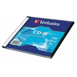 CD-R lemez, 700MB, 52x, 1 db, vékony tok, VERBATIM DataLife (CDV7052V1DL)