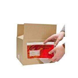 Okmánykísérő tasak, C/5, öntapadós, 240x185 mm, piros (CSRDOKC5P)