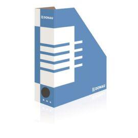 Iratpapucs, karton, 100 mm, DONAU, kék-fehér (D7648)