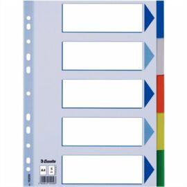 Regiszter, műanyag, A4, 5 részes, ESSELTE (E15259)