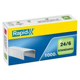 Tűzőkapocs, 24/6, horganyzott, RAPID Standard (E24855600)