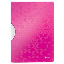 Gyorsfűző, klipes, PP, A4, LEITZ Wow ColorClip rózsaszín (E41850023)