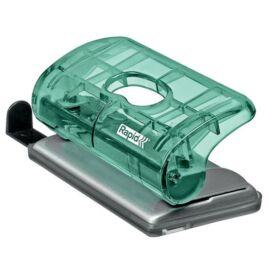 Lyukasztó, mini, kétlyukú, 10 lap, RAPID, Colour` Ice, zöld (E5001331)