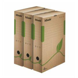 Archiválódoboz, A4, 80 mm, újrahasznosított karton, ESSELTE Eco, barna (E623916)
