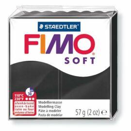 Gyurma, 57 g, égethető, FIMO Soft, fekete (FM80209)