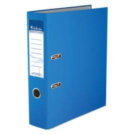 Iratrendező, 75 mm, A4, PP/karton, élvédő sínnel, VICTORIA, Basic, kék (IDI75K)