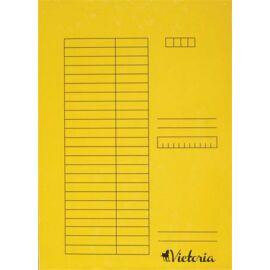 Gyorsfűző, karton, A4, VICTORIA, sárga (IDPGY02)