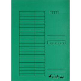 Gyorsfűző, karton, A4, VICTORIA, zöld (IDPGY03)
