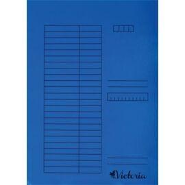 Gyorsfűző, karton, A4, VICTORIA, kék (IDPGY04)