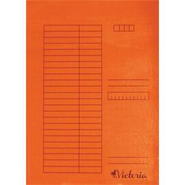 Gyorsfűző, karton, A4, VICTORIA, narancs (IDPGY08)