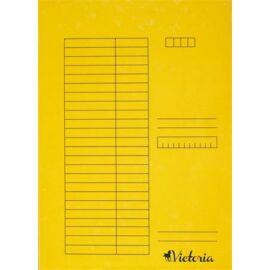 Pólyás dosszié, karton, A4, VICTORIA, sárga (IDPI02)