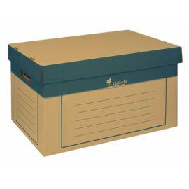 Archiválókonténer, 320x460x270 mm, karton, VICTORIA, natúr (IDVAKN)