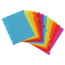Regiszter, műanyag, A4 Maxi, 12 részes, VIQUEL, Happy Fluo, színes (IV154731)