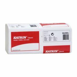 Kéztörlő, Z hajtogatott, 1 rétegű, KATRIN, fehér (KHH376)