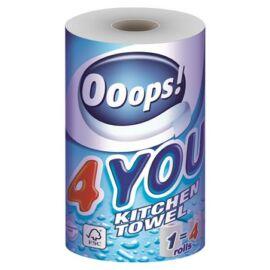 Háztartási papírtörlő, 2 rétegű, 200 lap, tekercses, Ooops! 4You (KHHVP041)