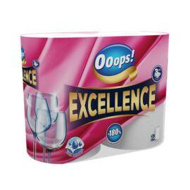 Háztartási papírtörlő, 3 rétegű, 2 tekercses, Ooops! Excellence (KHHVP058)