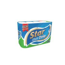 Toalettpapír, 3 rétegű, 24 tekercses, Star Trio (KHHVP38)