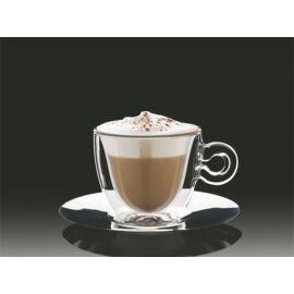 Cappuccinos csésze rozsdamentes aljjal, duplafalú, 2db-os szett, 16,5cl Thermo (KHPU144)