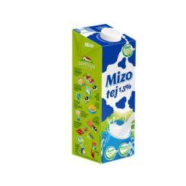 Tartós tej, visszazárható dobozban, 1,5 százalék , 1 l, MIZO (KHTEJMIZO15)