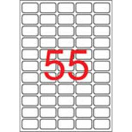 Etikett, univerzális, 36,8x23,8 mm, eltávolítható, kerekített sarkú, APLI, 5500 etikett/csomag (LCA03051)