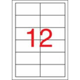 Etikett, univerzális, 97x42,4 mm, eltávolítható, APLI, 1200 etikett/csomag (LCA03057)