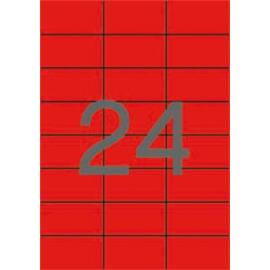 Etikett, 70x37 mm, színes, APLI, piros, 480 etikett/csomag (LCA1593)