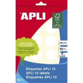 Etikett, 25 mm kör, kézzel írható, APLI, 240 etikett/csomag (LCA1629)