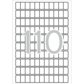 Etikett, 12x18 mm, kerekített sarkú, A5 hordozón, APLI, 1650 etikett/csomag (LCA1860)