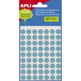 Etikett, 8 mm kör, kézzel írható, színes, APLI, kék, 288 etikett/csomag (LCA2045)