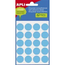 Etikett, 19 mm kör, kézzel írható, színes, APLI, kék, 100 etikett/csomag (LCA2064)