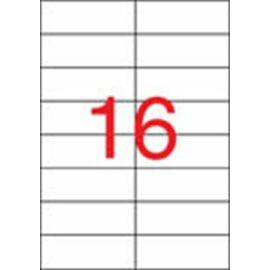 Etikett, lézernyomtatókhoz, 105x37 mm, APLI, 4000 etikett/csomag (LCA2525)