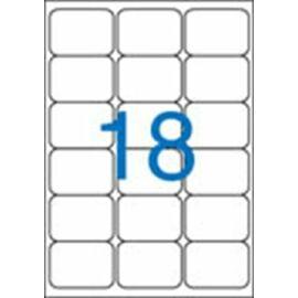 Etikett, univerzális, 63,5x46,6 mm, kerekített sarkú, VICTORIA, 1800 etikett/csomag (LCV11385)