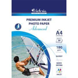 Fotópapír, tintasugaras, A4, 180 g, fényes, VICTORIA Advanced (LVIG02)