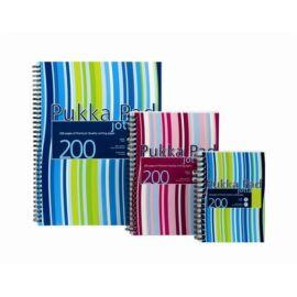 Spirálfüzet, A4+, vonalas, 100 lap, PUKKA PAD Stripe Jotta (PUPJP018)