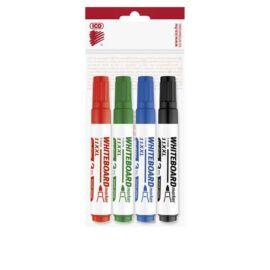 Tábla- és flipchart marker készlet, 1-3 mm, kúpos, ICO Plan 11 XXL, 4 különböző szín (TICPL11XV4)