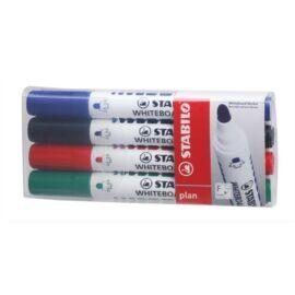 Táblamarker készlet, 2,5-3,5 mm, kúpos, STABILO Plan, 4 különböző szín (TST6414)