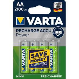 Tölthető elem, AA ceruza, 4x2100 mAh, előtöltött, VARTA Power (VAKU02)