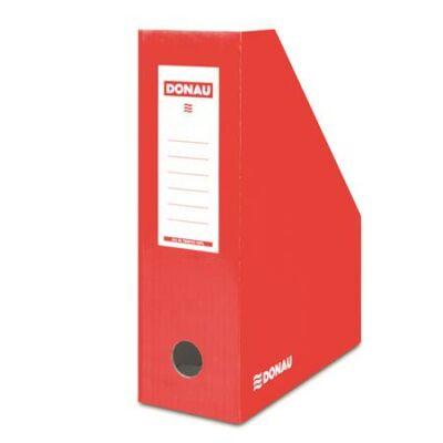 Iratpapucs, karton, 100 mm, DONAU, piros (D7648P)