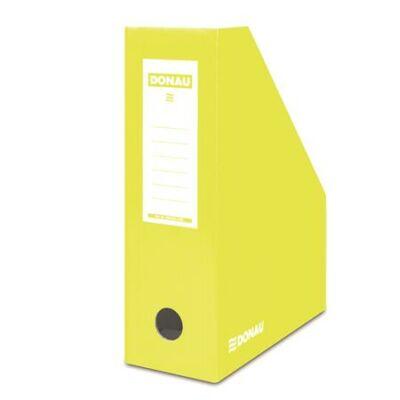 Iratpapucs, karton, 100 mm, DONAU, citromsárga (D7648S)