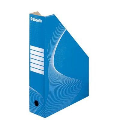 Iratpapucs, karton, 80 mm, összehajtható, ESSELTE Standard, kék (E10025)
