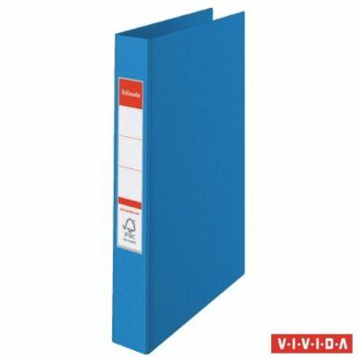 Gyűrűs könyv, 4 gyűrű, 42 mm, A4, PP, ESSELTE Standard, Vivida kék (E14460)