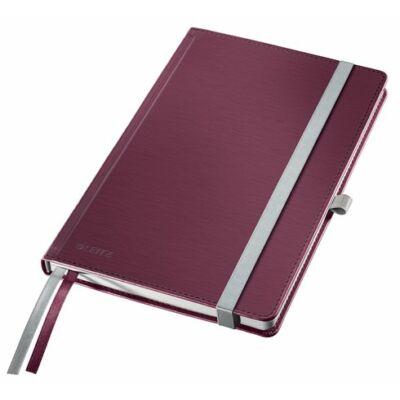 Jegyzetfüzet, A5, vonalas, 80 lap, keményfedeles, LEITZ Style, gránátvörös (E44850028)