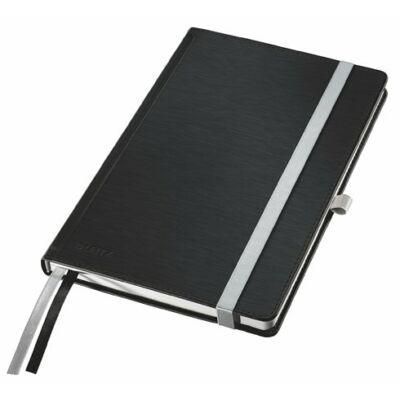 Jegyzetfüzet, A5, vonalas, 80 lap, keményfedeles, LEITZ Style, szaténfekete (E44850094)