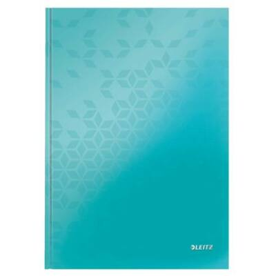 Beíró, A4, kockás, 80 lap, keményfedeles, lakkfényű, LEITZ Wow, jégkék (E46261051)
