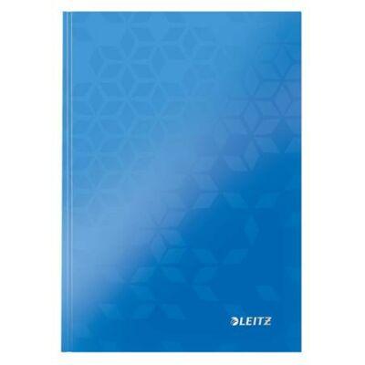 Beíró, A5, kockás, 80 lap, keményfedeles, lakkfényű, LEITZ Wow, kék (E46281036)