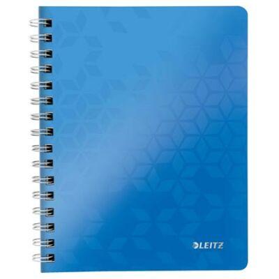 Spirálfüzet, A5, kockás, 80 lap, LEITZ Wow, kék (E46410036)